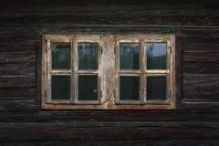 Dolna Lehota village in Orva region. Traditional log cabin in Orava region, Slovakia royalty free stock photo