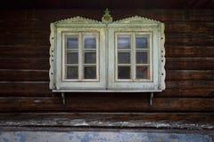Podbiel village in Orva region. Traditional log cabin in Orava region, Slovakia royalty free stock photography