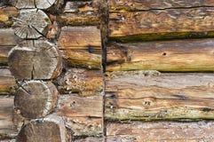 Traditional log wall addition Stock Photography