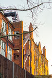 Traditional London Flats. A block of traditional luxury flats in london during the sunset Stock Photography