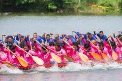 Traditional long boat racing at koa toa huahin 2013 Royalty Free Stock Images