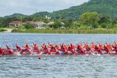 Traditional long boat racing at koa toa huahin 2013 Royalty Free Stock Photos