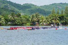 Traditional long boat racing at koa toa huahin 2013 Stock Photo