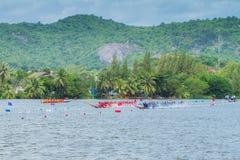 Traditional long boat racing at koa toa huahin 2013 Stock Images