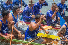 Traditional long boat racing at koa toa huahin 2013 Royalty Free Stock Photos