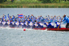 Traditional long boat racing koa toa huahin 2013 Royalty Free Stock Photos