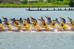 Traditional long boat racing koa toa huahin 2013 Stock Images