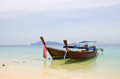 , traditional long tail boat, Koh Kradan, Thailand Stock Images