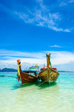 Traditional long tail boat, Koh Kradan, Thailand Stock Image