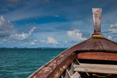 Traditional long tail boat Royalty Free Stock Photo