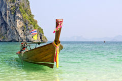 Traditional long tail boats, Andaman Sea, Thaila Royalty Free Stock Photo