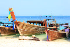 Traditional long tail boats Stock Photography
