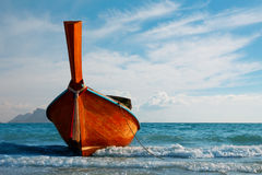 Traditional longtail boat at Andaman sea Royalty Free Stock Image