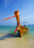 Traditional longtail boat on Koh Phi Phi Leh Island, Krabi, Thai Stock Images