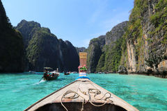 Traditional longtail boat in  Koh Phi Phi Leh Island,Thailand Stock Photography