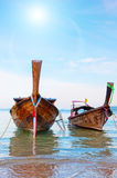 Traditional longtail boat Stock Images