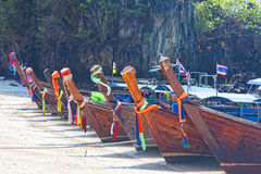 Traditional longtail boats Stock Image