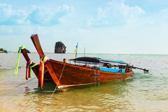 Traditional longtail boats Royalty Free Stock Image