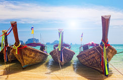 Traditional longtail boats Stock Photos