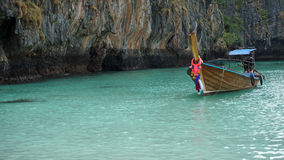 Traditional longtailboat in thailand Royalty Free Stock Image