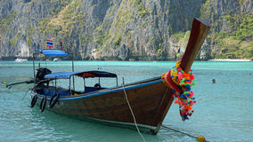 Traditional longtailboat in thailand Royalty Free Stock Images