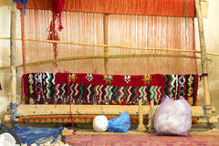 Traditional loom in Morocco, Africa Royalty Free Stock Image