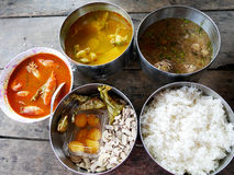 Traditional lunch cuisine food set of southern thai style royalty free stock images