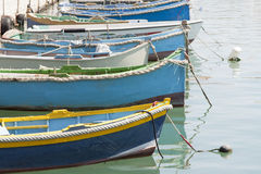 Traditional Luzzu boats, Malta Royalty Free Stock Images