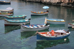 Traditional Luzzu boats, Malta Royalty Free Stock Photography
