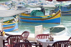 Traditional Luzzu boats, Malta Royalty Free Stock Photo