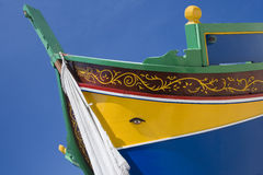Traditional Luzzu fishing boat - Malta Royalty Free Stock Images