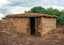 Traditional maasai  hut,  Kenya Stock Image