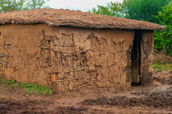 Traditional maasai  hut, Kenya Stock Photography