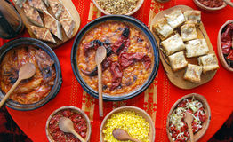 Traditional macedonian and balkans food Royalty Free Stock Photo