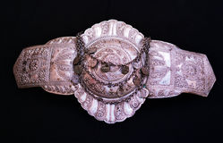 Traditional Macedonian Belt Buckle Decoration Stock Photography
