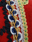 Traditional macedonian costume, details. Picture of a Traditional macedonian costume, details royalty free stock photo