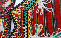Traditional macedonian costume, details Royalty Free Stock Photography