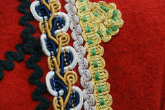 Traditional macedonian costume, details Stock Photo