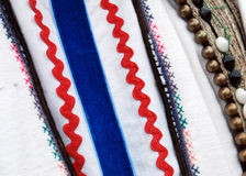 Traditional macedonian costume, details. Picture of a Traditional macedonian costume, details royalty free stock photography