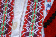 Traditional macedonian costume, details Stock Images