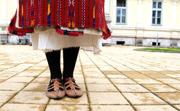 Traditional macedonian costume, details Stock Photos