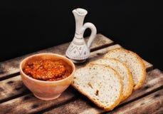 Traditional macedonian meal - ajvar Stock Photos