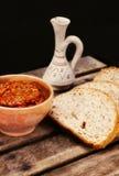 Traditional macedonian meal - ajvar Stock Image