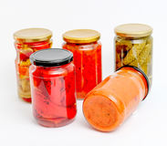 Traditional Macedonian preserved food for winter food. homemade product Stock Photo