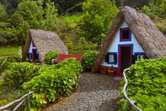 Traditional Madeira house in Santana Portugal Royalty Free Stock Photography