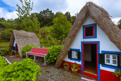 Traditional Madeira house in Santana Portugal Royalty Free Stock Image