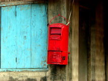 Traditional Mail. A post box of a traditional mail service in India Stock Image