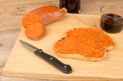 Sobrasada spread Stock Photos