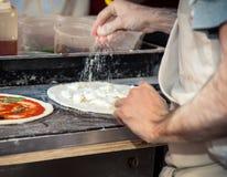 Traditional making of italian pizza Royalty Free Stock Photo