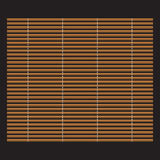 Traditional makisu woven mat for sushi rolls. Stock Photo